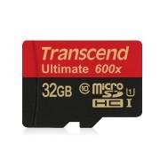 Cartão de Memória Transcend MicroSDHC 32GB Classe 10 Ultimate 600x 90mb/s