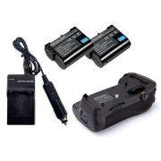 Kit Battery Grip MB-D12 para Nikon D800, D810 + 2 Baterias EN-EL15 + Carregador