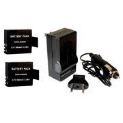 Kit 2 Baterias SJ4000B + carregador para SJCAM