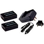 Kit 2 Baterias LP-E17 + Carregador para câmera digital Canon EOS Rebel T6i T6s 77D