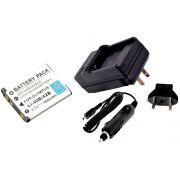 Kit Bateria LI-40B LI-42B + carregador para câmera digital Olympus FE-20, FE-340, X-835, u 1000