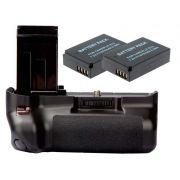 Kit Battery Grip 100DH + 2 baterias LP-E12 para câmera Canon EOS 100D Rebel SL1