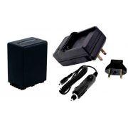 Kit Bateria NP-FV100 para câmera digital e filmadora Sony HDR-XR160E, HDR-PJ50VE, DCR-SR77E, DCR-HC85E