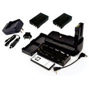 Kit Battery Grip MB-D5000H para Nikon + 2 baterias En-El9 + Carregador