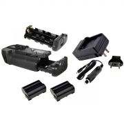 Kit Battery Grip MB-D11 + 2 Baterias EN-EL15 + Carregador para Nikon D7000