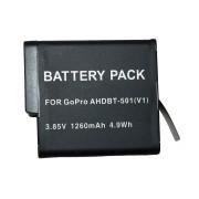 Bateria AHDBT-501 para Go Pro Gopro HD Hero 5
