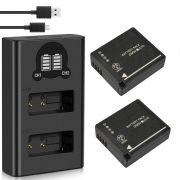 2 Baterias + Duplo Carregador DMW-BLG10 P PANASONIC