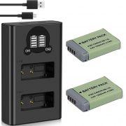 2 Baterias + Duplo Carregador DL NB-12L 13L PARA CANONL