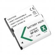 2 Baterias NP-BX1 1240mAh para câmera digital e filmadora Sony DSC-RX1, DSC-RX100M2, DSC-HX300, HDR-MV1, HDR-AS15
