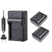 2 Baterias NP-W126 + Carregador para Fuji FinePix HS30 EXR, HS50 EXR, X-E1, X-Pro1, F30, F31FD