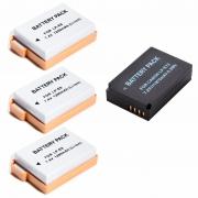 3 baterias LP-E8 + 1 bateria LP-E12