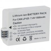 Bateria LP-E5 1600mAh para câmera digital e filmadora Canon EOS Rebel SX, EOS RebelT1i, EOS Rebel 500D