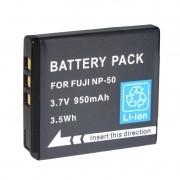 Bateria NP-50 para câmera digital e filmadora Fuji FinePix F50, F50FD, F60FD, F100FD, F500, J50