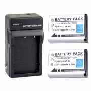 Carregador + 2 Baterias Np-95 Para Fuji X100 F30 X-S1 F31