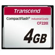 Cartao de memoria CompactFlash Transcend 4GB TS4GCF220I 220I x Industrial Grade