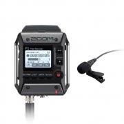 F1-LP - Gravador Zoom F1 com Microfone Lavalier