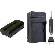 Kit 1 Bateria NP-F550 + Carregador para NP-F550 Sony