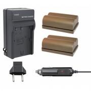 Kit 2 Baterias BP-511A + carregador para Canon EOS Digital SLR 5D, EOS Digital Rebel, PowerShot G3
