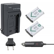 KIT 2 BATERIAS + CARREGADOR Sony NP-BX1 para Sony DSC-RX1, DSC-RX100M2, DSC-HX300, HDR-MV1, HDR-AS15, DSC-H400