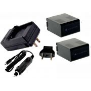 Kit 2 Baterias  CGR-D54S + carregador para Panasonic AG-DVC7, NV-DS11, AG-DVX100, NV-DS60