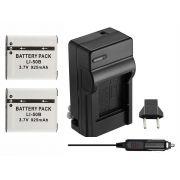 Kit 2 Baterias Li-50B + carregador para câmera digital e filmadora Olympus SP-800, SZ30, Tough TG-610, u 9010, u (micro) Digital 1010