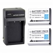 Kit 2 Baterias Np-95 + Carregador Para Fuji