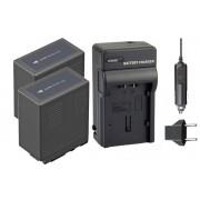 Kit 2 Baterias VW-VBG6 + carregador para Panasonic AG-HMC70, AG-HMC40, AG-HMC150, AG-AC7