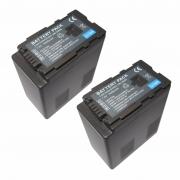 Kit 2 baterias Vw-vbg6 Para Panasonic Ag-hmc40 Hmc70 Hmc80 Hmc150 Ag-ac7