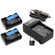 KIT 2X Baterias LP-E6 1800mAh + Carregador para câmera digital e filmadora Canon EOS Digital 5D Mark II, EOS 60D, EOS Digital 7D