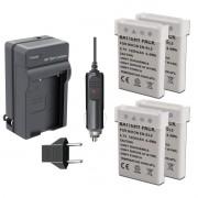 Kit 4 Baterias + Carregador En-el5 Para Nikon