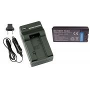 Kit Bateria NP-FC10 + carregador para Sony Cyber-shot DSC-P2, DSC-P5, DSC-P10, DSC-P12, DSC-V1, DSC-F7