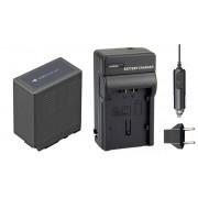 Kit Bateria VW-VBG6 + carregador para câmera digital e filmadora Panasonic AG-HMC70, AG-HMC40, AG-HMC150, AG-AC7