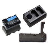 KIT BATTERY GRIP BG-E14 PARA CANON EOS 70D + 2 BATERIAS LP-E6 + 1 CARREGADOR DUPLO