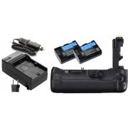 Kit Battery Grip de bateria BG-E16 + 2 Baterias LP-E6 + Carregador para câmera Canon EOS 7D, 7D Mark II