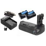 Kit BATTERY GRIP BG-E9 + 2 Baterias LP-E6 + 1 Carregador PARA CANON EOS 60D e 60Da