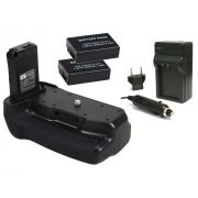 Kit Battery Grip para Canon EOS 800D, Rebel T7i, 77D, Kiss X9i + 2 Baterias LP-E17 + 1 Carregador