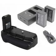 Kit Battery Grip para Canon EOS 800D, Rebel T7i, 77D, Kiss X9i + 2 Baterias LP-E17 + Duplo LP-E17 Carregador