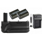 Kit Battery Grip VG-A6500 para Sony A6500 + 2 baterias NP-FW50 + carregador