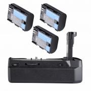 KIT Grip Para Blackmagic + 3 LP-E6 Pocket Cinema BMPCC 4K 6K