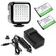 Kit Iluminador de LED Profissional LED-VL009 + 2 Baterias Li-40B + Carregador