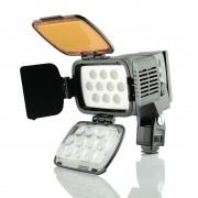 Kit Iluminador Led A 1 Bateria Carregador P Canon Sony Nikon
