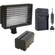 Kit Iluminador Profissional LED VL003-150 + Bateria NP-750 + Carregador