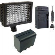 Kit Iluminador Profissional LED VL003-150 + Bateria NP-F950 + Carregador NP-FM50
