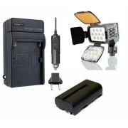 KIT LED PROFI LED-VL001A + BATERIA NP-F550/NP-F570 + CARREGADOR