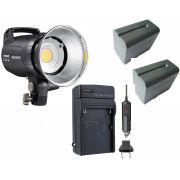 LED Yongnuo YN760 + 2 Baterias NP-F970 + Carregador
