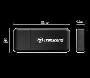 Leitor de cartão USB Transcend compacto F5 USB 3.1