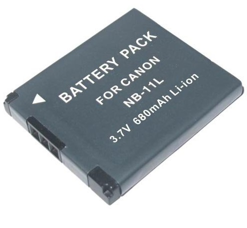 Bateria NB-11L 680mAh para câmera digital e filmadora Canon PowerShot A2300, Digital ELPH 110 HS, Digital IXUS 125 HS