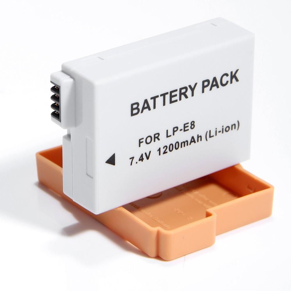 Bateria LP-E8 para câmera digital e filmadora Canon EOS Digital Rebel T2i, T3i, EOS digital SLR 550D, EOS KISS Digital x5