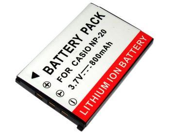 Bateria NP-20 800mAh para câmera digital e filmadora Casio Exilim EX-275, EX-M20, EX-S100, EX-Z11