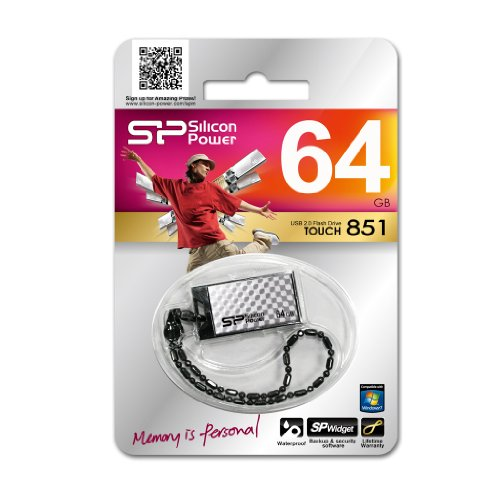 Pen drive Silicon Power Touch 835 64GB Prata